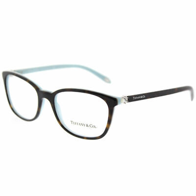 Tiffany & Co. TF 2109H 8134 Havana on Blue Plastic Square Eyeglasses 51mm
