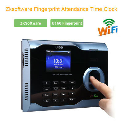 Biometric Fingerprint Attendance Time Clock Id Card Reader Wifi Tcpip Usb