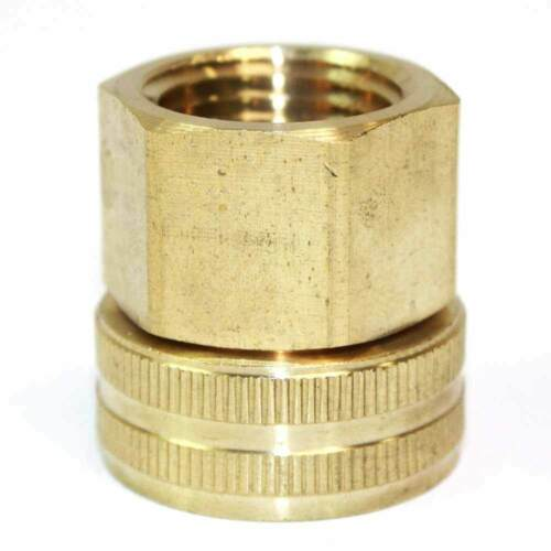 "3/4"" GHT Female x 1/2"" Female NPT Water Hose Swivel Fitting - FGF008S"