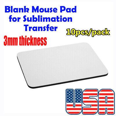 10pcs Blank Sublimation Mouse Pads Diy Mouse Mats 220x180x3mm