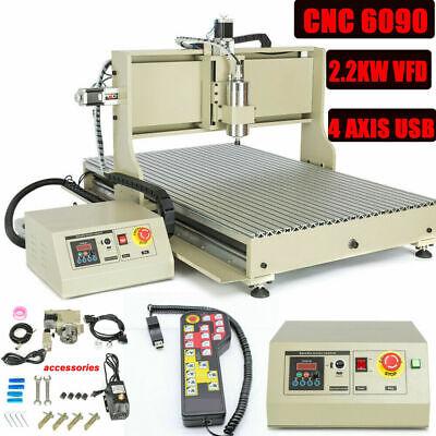 Usb 4axis Cnc 6090 Router Engraver Desktop Engraving Carving Machine Rc