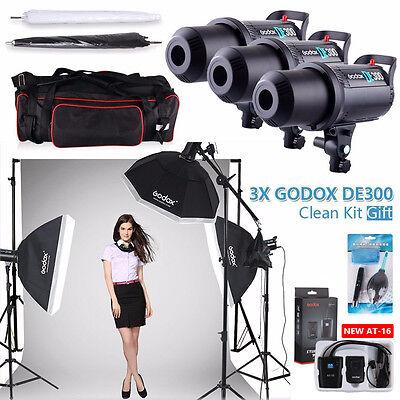 Godox DE300 900W Camera Photography Studio Flash Strobe Lighting Digital LED Set