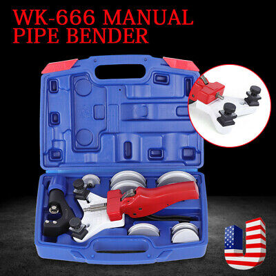 Heavy Duty Wk-666 Manual Multi Copper Pipe Bender Tube Bending Tool Kit New