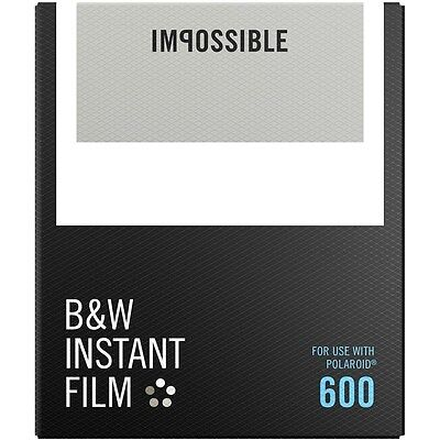 Impossible PRD4516 Black & White Glossy Instant Film for Polaroid 600 Cameras