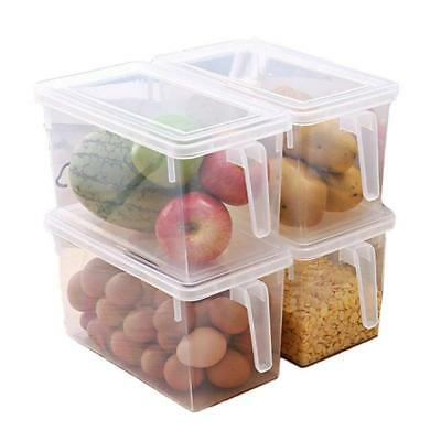 Kitchen Food Fruit Storage Containers Refrigerator Organizer Box with Lid Handle for sale  China