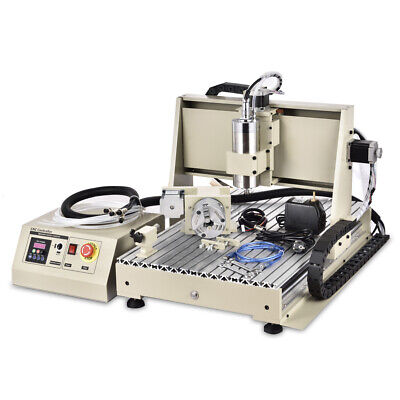 4 Axis 6040cnc Router Engraver Milling Machine Engraving Drilling Usb 1500w