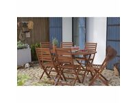 Wooden garden furniture set for sale