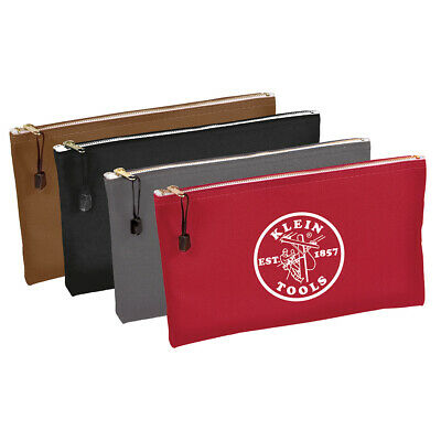 Klein Tools 5141 Zipper Bags-Canvas, 4-Pack  Klein Tools Canvas Zipper Bag