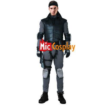 Metal Gear Solid Snake Cosplay Costume with Belts Set - Serpent Costume