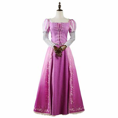 Disney Rapunzel Princess Dress Cosplay Costume Haloween Party Dress Up NEW (Disney Rapunzel Dress Up Kostüm)