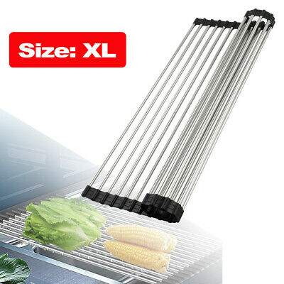 Dish Pan (Over the Sink Multipurpose Roll-Up Dish Drying Rack Pan Bottle Food Drainer Mat )