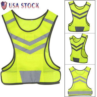 Hi-vis Safety Vest Reflective Jacket Security Waistcoat Construction Traffic Us