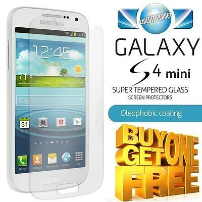 100% GENUINE TEMPERED GLASS SCREEN PROTECTOR FOR SAMSUNG GALAXY S4 MINI i9190