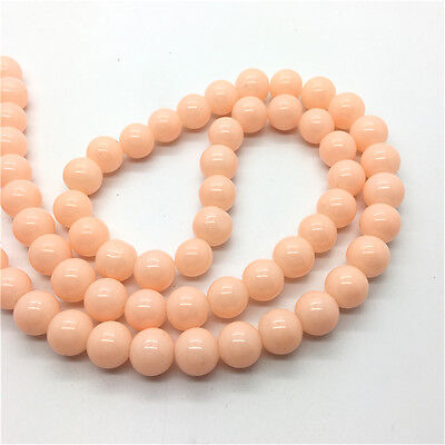 New 6mm 50Pcs Jade Color Glass Round Pearl Loose Beads DIY Jewelry Making #6m33