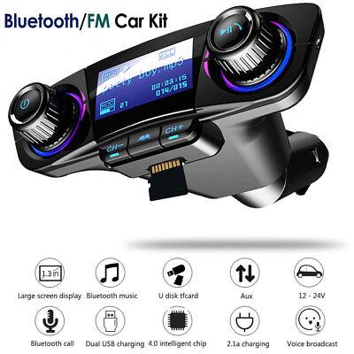 Nue Stil Bluetooth Freisprecheinrichtung FM Transmitter Aux Audio USB MP3 Player