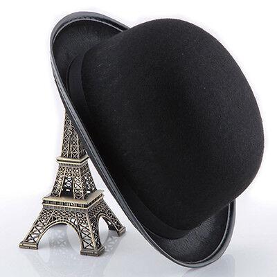 Fashion Halloween Hats Magician Magic Cosplay Hat Jazz Top Hat Bucket Caps Black