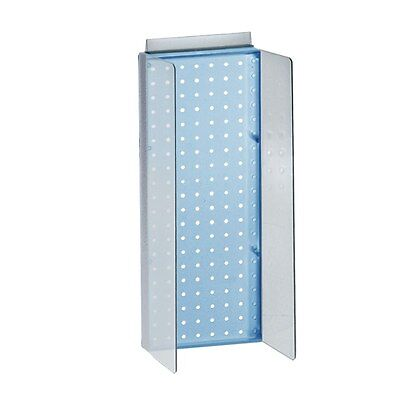 New Retails Blue Pegboard Powerwing Display 8w X 20.625high