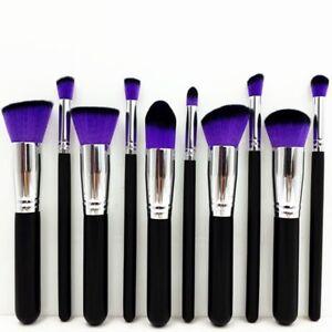 10Pcs Daily Beauty Make Up Brushes Buffing Foundation Blending Contour Brush Kit