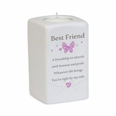 Said With Sentiment Best Friend Tea Light Candle Holder Square Ceramic