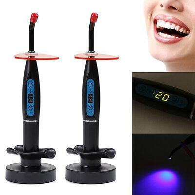 2pcs Dental 10w Wireless Cordless Led Curing Light Lamp 2000mw Us New 2020