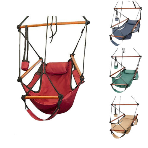 Hammock Hanging Chair Air Deluxe Outdoor Chair Solid Wood 25