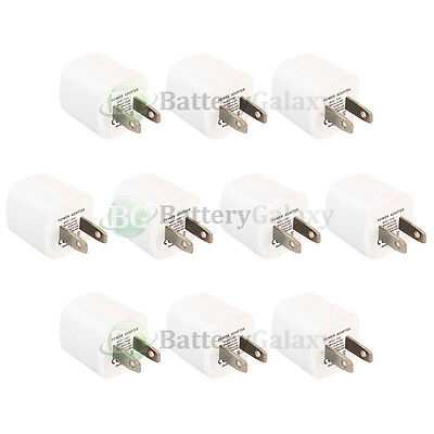 10 HOT! NEW USB Mini Wall Charger for Apple iPhone 2 3 3G 3GS 4 4G 4S 5 5C 5G 5S