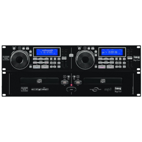 Stageline CD-292USB DJ Twin CD Player Anti Shock USB 2.0 Interface Seamless Loop