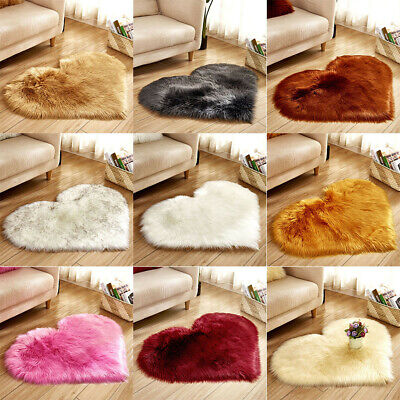 Faux Fur Sheepskin Rug Fluffy Mats Pad Room Chair Bed Hairy