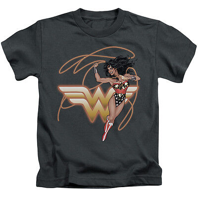 WONDER WOMAN GLOWING LASSO Toddler Kids Graphic Tee Shirt 2T 3T 4T 4 5-6 - Kids Wonder Woman Shirt
