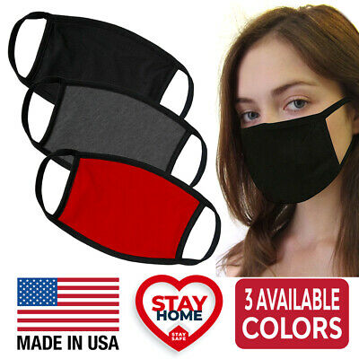 Reusable Washable Double Layer Cotton Protective Cover Face Mask MADE IN USA