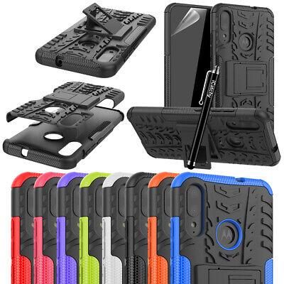 For Motorola Moto E6 Plus Case Heavy Duty Armor Hybrid Shock Proof Back Cover