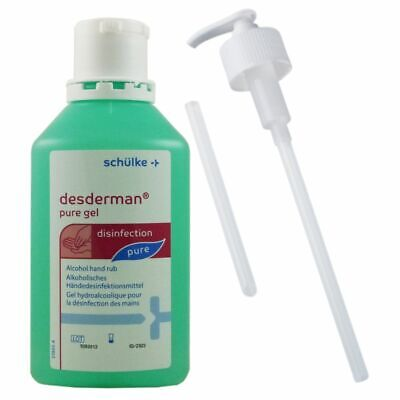 desderman pure gel 500ml Desinfektionsgel Desinfektion & Schülke Dosierpumpe Set