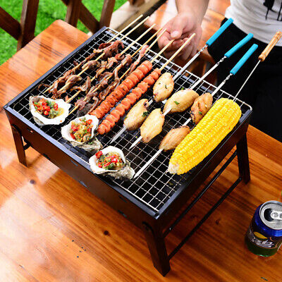 Heavy Duty BBQ Plate Rack Mesh Steel Wire Grill Cooking Grate Non Stick Grid Net