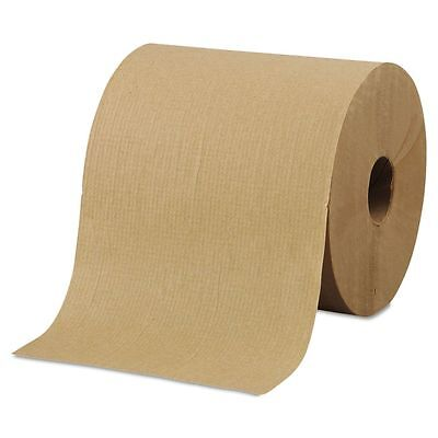 "Morcon Paper Hardwound Roll Towels, 8"" x 800ft, Brown, 6 Rolls/Carton - MORR6800"