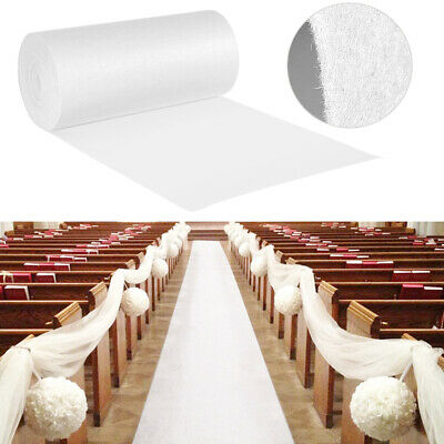 16'/40'ft Wedding Aisle Runner White Carpet Rugs Party Indoor Outdoor Decoration