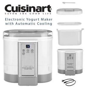 NEW CYM-100C Cuisinart Electronic Yogurt Maker with Automatic Cooling Condtion: New, In box