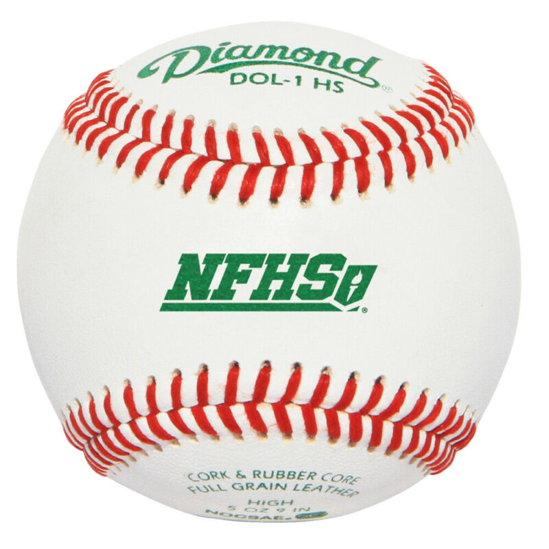 Diamond DOL-1 HS Youth Game & High School Practice Baseball Pack of 12