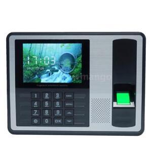 Employee Fingerprint Recorder Attendance Clock Time Card Machine 4 inch TFT N5Y9