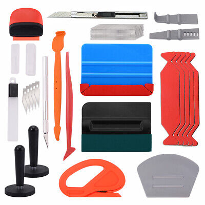 Standard Vinyl Wrap Kit Car Application Film Tools Felt Squeegee Magnets Blades