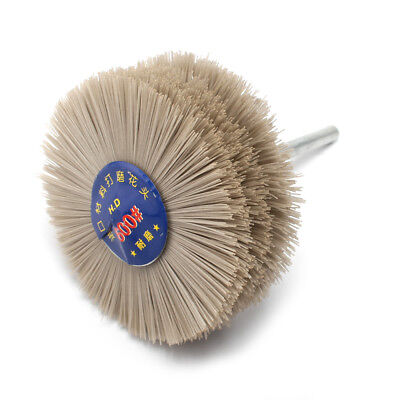 2pcs 80mm Nylon Abrasive Wheel Brush Polishing Grinder For Wood Stone Grit 600