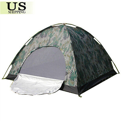 0c394508d Camping Waterproof Outdoor 2 Person 4 Season Folding Tent Camouflage Hiking  USA