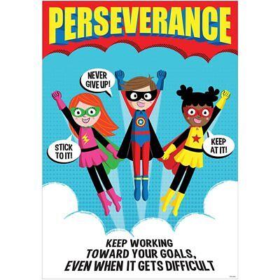 Perseverance Superhero Inspire U Poster Creative Teaching Press CTP7278