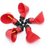 5 Pack Poultry Water Drinking Cups- Chicken Hen Plastic Automatic Drinker