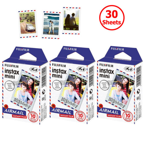 Fujifilm Instax Mini Film Airmail 30 Sheets For Fuji Instant 7s 8 9 50 70 Camera
