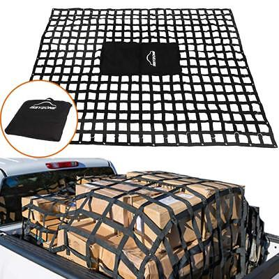 Safety Web Cargo Net Large for Silverado F150 Sierra Ram Bed Mounted 95x72 Inch
