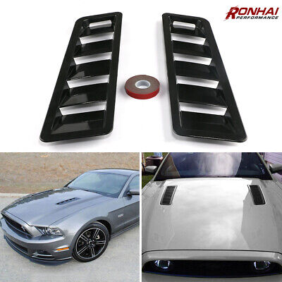 Black Hood Scoop intake Vent For Cars Universal Hoods Vents Bonnet Cover