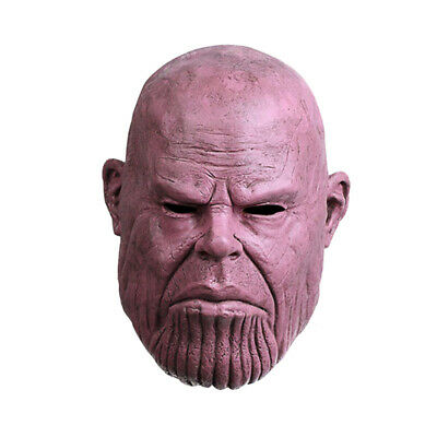 Thanos Latex Full Face Mask Helmet Cosplay Infinity War Marvel Avengers Endgame](Full Latex Mask)