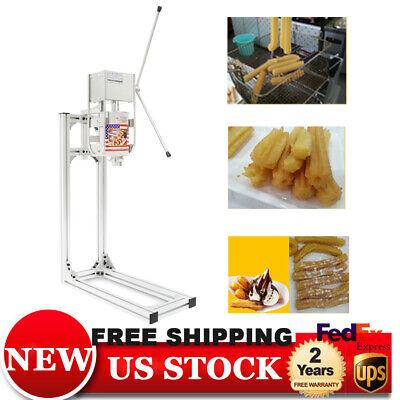 5 Nozzles 3l Manual Spanish Donut Churros Churrera Machine Maker W Stand
