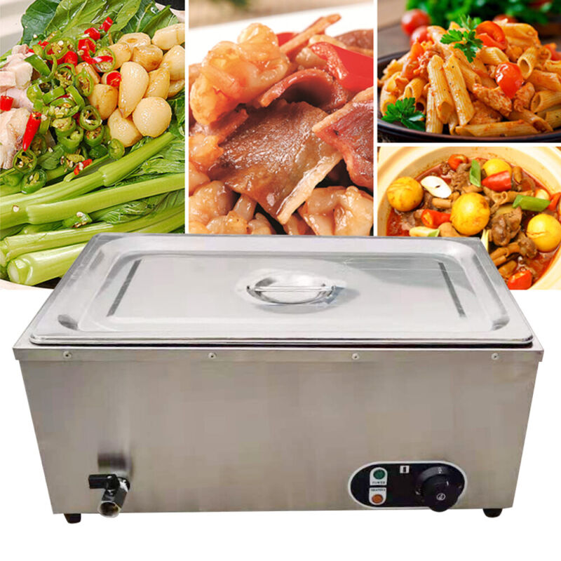 Commercial Food Warmer Countertop Stainless w/Power Cord For Kitchen Equipment