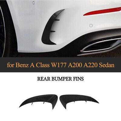 Carbon Optik Schwarz Heckstoßstange Splitter Canards Flap für Mercedes W177 A220